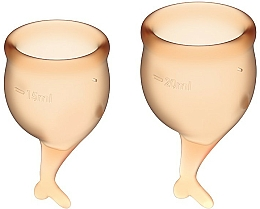 Парфюмерия и Козметика Комплект менструални чаши, оранжеви - Satisfyer Feel Secure Menstrual Cups