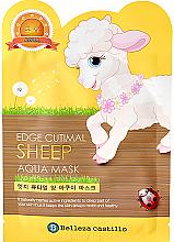 """Парфюмерия и Козметика Памучна маска за лице """"Овчица"""" - Belleza Castillo Edge Cutimal Sheep Anti-Wrinkle Mask"""
