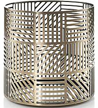 Парфюмерия и Козметика Свещник - Yankee Candle Crosshatch Brass Jar Holder
