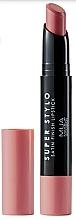 Парфюмерия и Козметика Седефено червило за устни - MUA Academy Super Stylo Satin Finish Lipstick