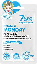 """Парфюмерия и Козметика Маска за лице след дълъг работен ден """"Динамичен понеделник"""" - 7 Days Dynamic Monday"""