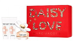 Парфюмерия и Козметика Marc Jacobs Daisy Love - Комплект (тоал. вода/50ml + душ гел/75ml + мляко за тяло/75ml)