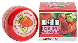 Парфюмерия и Козметика Вазелин за устни с аромат на ягода - Kosmed Flavored Jelly Strawberry