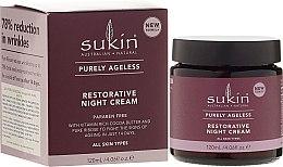Парфюми, Парфюмерия, козметика Антистареещ нощен крем за лице - Sukin Purely Ageless Restorative Night Cream