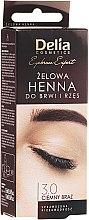 Парфюмерия и Козметика Гел-къна за вежди, тъмно кафява - Delia Eyebrow Tint Gel ProColor 3.0 Dark Brown
