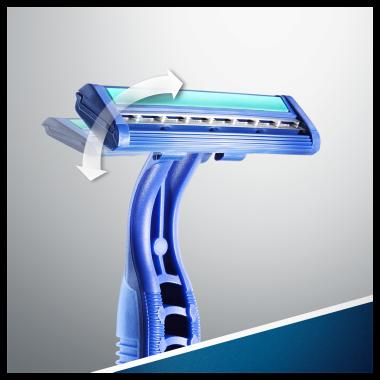 Комплект еднократни самобръсначки - Gillette Blue II Plus Chromium — снимка N9