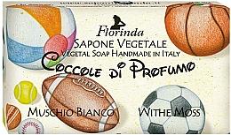 Парфюмерия и Козметика Натурален сапун с бял мускус - Florinda Sapone Vegetale Vegetal Soap White Moss