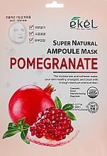 Парфюмерия и Козметика Памучна маска за лице с екстракт от нар - Ekel Super Natural Ampoule Pomegrante