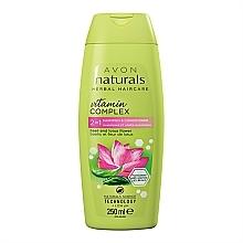 """Парфюмерия и Козметика Шампоан балсам 2в 1 """"Цвят на лотос и босилек"""" - Avon Naturals Hair Care Shampoo"""