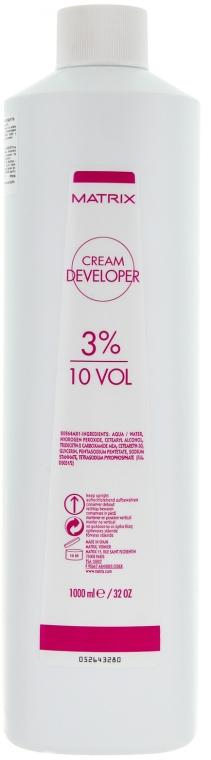 Крем-оксидант 3 % - Matrix Cream Developer 10 Vol. 3 %  — снимка N1