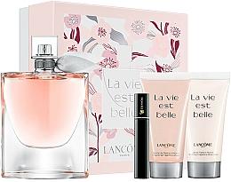 Парфюмерия и Козметика Lancome La Vie Est Belle - Комплект (парф. вода/100ml + лос. за тяло/50ml + душ гел/50ml + спирала/2ml)