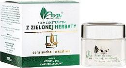 Парфюмерия и Козметика Крем за суха и чувствителна кожа с екстракт от зелен чай - Ava Laboratorium Green Tea Cream For Dry And Sensitive Skin