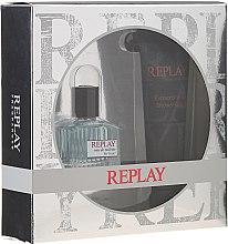 Парфюмерия и Козметика Replay For Him Giftbox - Комплект (тоал. вода/30ml + душ гел/100ml)