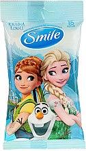 """Парфюми, Парфюмерия, козметика Мокри кърпички """"Frozen"""", 15бр, Анна и Елза - Smile Ukraine Disney"""