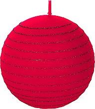Парфюмерия и Козметика Декоративна свещ, червена топка, 8см - Artman Andalo