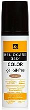Парфюмерия и Козметика Слънцезащитен гел на водна основа за лице с тониращ ефект - Cantabria Labs Heliocare 360 Gel Oil Free Color