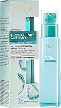 Парфюмерия и Козметика Аква-флуид за лице за нормална и суха кожа - L'Oreal Paris Hydra Genius Aloe Water
