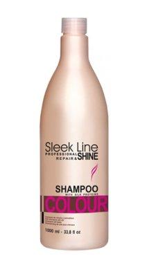 Шампоан за коса с коприна за боядисана коса - Stapiz Sleek Line Colour Shampoo