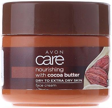 Възстановяващ и подхранващ крем за лице с какаово масло - Avon Care Norushing With Cocoa Butter — снимка N1