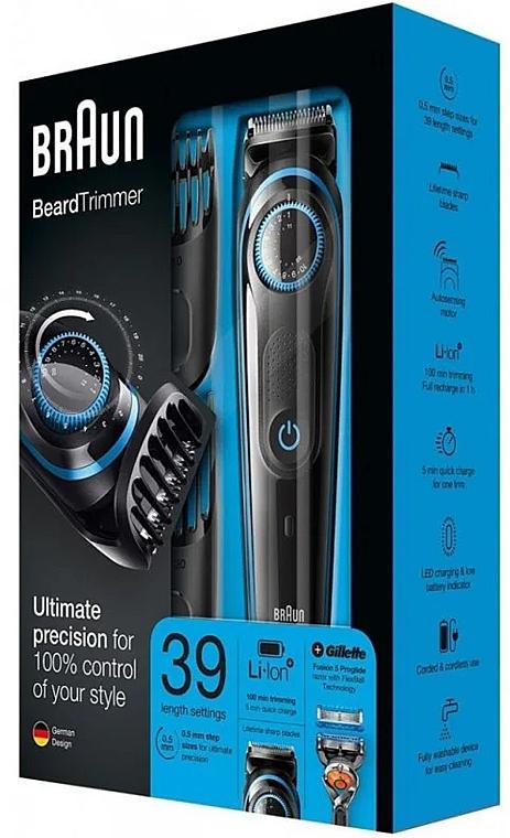 Тример за брада + самобръсначка - Braun BeardTrimmer BT5040 — снимка N1