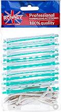 Парфюми, Парфюмерия, козметика Ролки за студено къдрене 6/91 mm, зелено-бели - Ronney