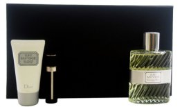 Парфюми, Парфюмерия, козметика Christian Dior Eau Sauvage - Комплект (edt 100ml + sh/g 50ml + edt 3ml)
