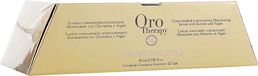Комплект лосиони за коса с кератин и арган 12х10мл - Fanola Oro Therapy Lotion