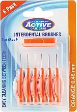 Парфюмерия и Козметика Интердентални четки за зъби, 0,45мм, оранжев цвят - Beauty Formulas Active Oral Care Interdental Brushes
