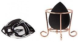 Парфюмерия и Козметика Комплект гъби за грим с поставка - Donegal