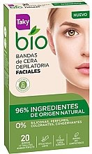 Парфюмерия и Козметика Восъчни ленти за депилация на лице - Taky Bio Natural 0% Face Wax Strips