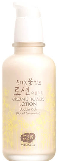 Хидратиращ лосион за лице с органични цветя - Whamisa Organic Flowers Lotion Double Rich