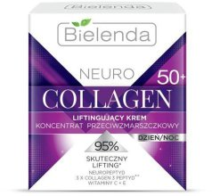 Парфюми, Парфюмерия, козметика Крем-концентрат против бръчки 50+ с лифтинг ефект - Bielenda Neuro Collagen Lifting Cream 50+