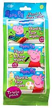 Парфюми, Парфюмерия, козметика Мокри кърпички - Kokomo Peppa Pig Peppa Hand & Face Wipes