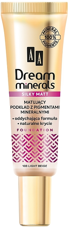Матиращ фон дьо тен - AA Dream Minerals Silky Matt Foundation