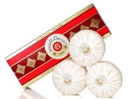 "Комплект от три парфюмни сапуна ""Жан Мари Фарина"" - Roger & Gallet Jean Marie Farina Perfumed Soaps (soap/3х100g ) — снимка N1"