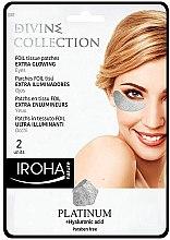 Парфюмерия и Козметика Пачове за очи - Iroha Nature Platinum Patches Extra Glowing Eyes