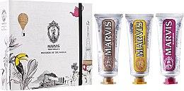 """Парфюми, Парфюмерия, козметика Комплект пасти за зъби """"Чудесата на света"""" - Marvis Set (toothpaste/3x25ml)"""