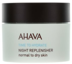 Парфюми, Парфюмерия, козметика Подхранващ нощен крем - Ahava Time To Hydrate Night Replenisher Normal to Dry Skin