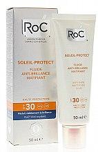 Парфюми, Парфюмерия, козметика Матиращ флуид за лице - RoC Soleil Protect Anti-Shine Mattifying Fluid SPF30