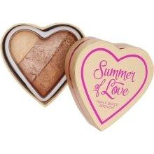 Парфюми, Парфюмерия, козметика Бронзова пудра за лице - Makeup Revolution Blushing Hearts Bronzer
