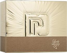 Парфюмерия и Козметика Paco Rabanne Lady Million - Комплект (парф. вода/50ml + парф. вода/10ml + лосион/75ml)