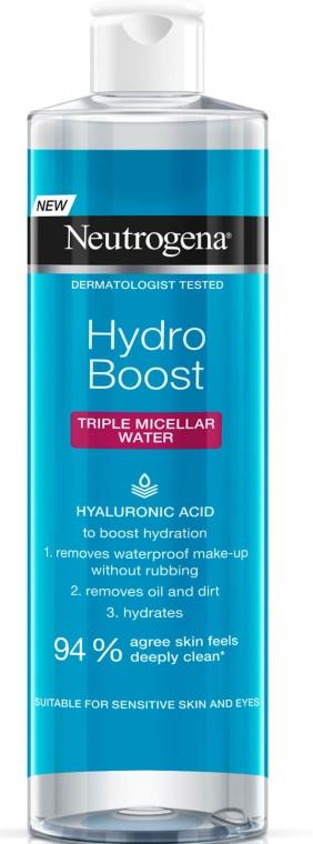 Мицеларна вода - Neutrogena Hydro Boost Triple Micellar Water