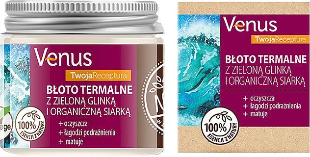 Термална кал със зелена глина и органична сяра - Venus Nature Your Recipe Thermal Mud With Green Clay And Organic Sulfur