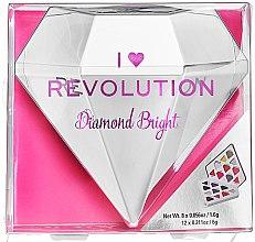Парфюмерия и Козметика Палитра сенки за очи, 20 цвята - I Heart Revolution Diamond Bright Palette