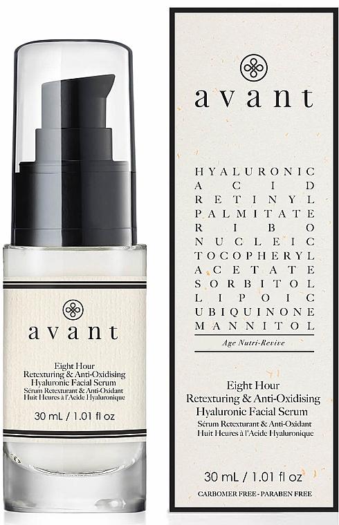 Антиоксидантен серум за лице с хиалуронова киселина - Avant 8 Hour Anti-Oxidising and Retexturing Hyaluronic Facial Serum — снимка N1