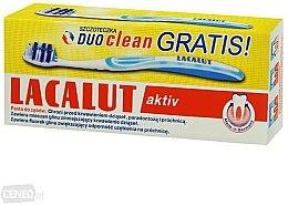 Парфюми, Парфюмерия, козметика Комплект паста за зъби + четка - Lacalut Activ Paradontosis