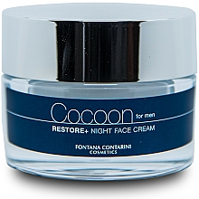 Парфюмерия и Козметика Нощен крем за лице за мъже - Fontana Contarini Cocoon Restore+ Night Face Cream