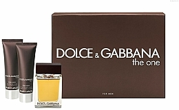 Dolce & Gabbana The One for Men - Комплект (тоал.вода 100ml + афтършейв балсам 50ml + душ гел 50ml) — снимка N1