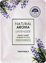 Парфюми, Парфюмерия, козметика Маска за лице от плат с лавандула - Tony Moly Natural Aroma Lavender Mask Sheet