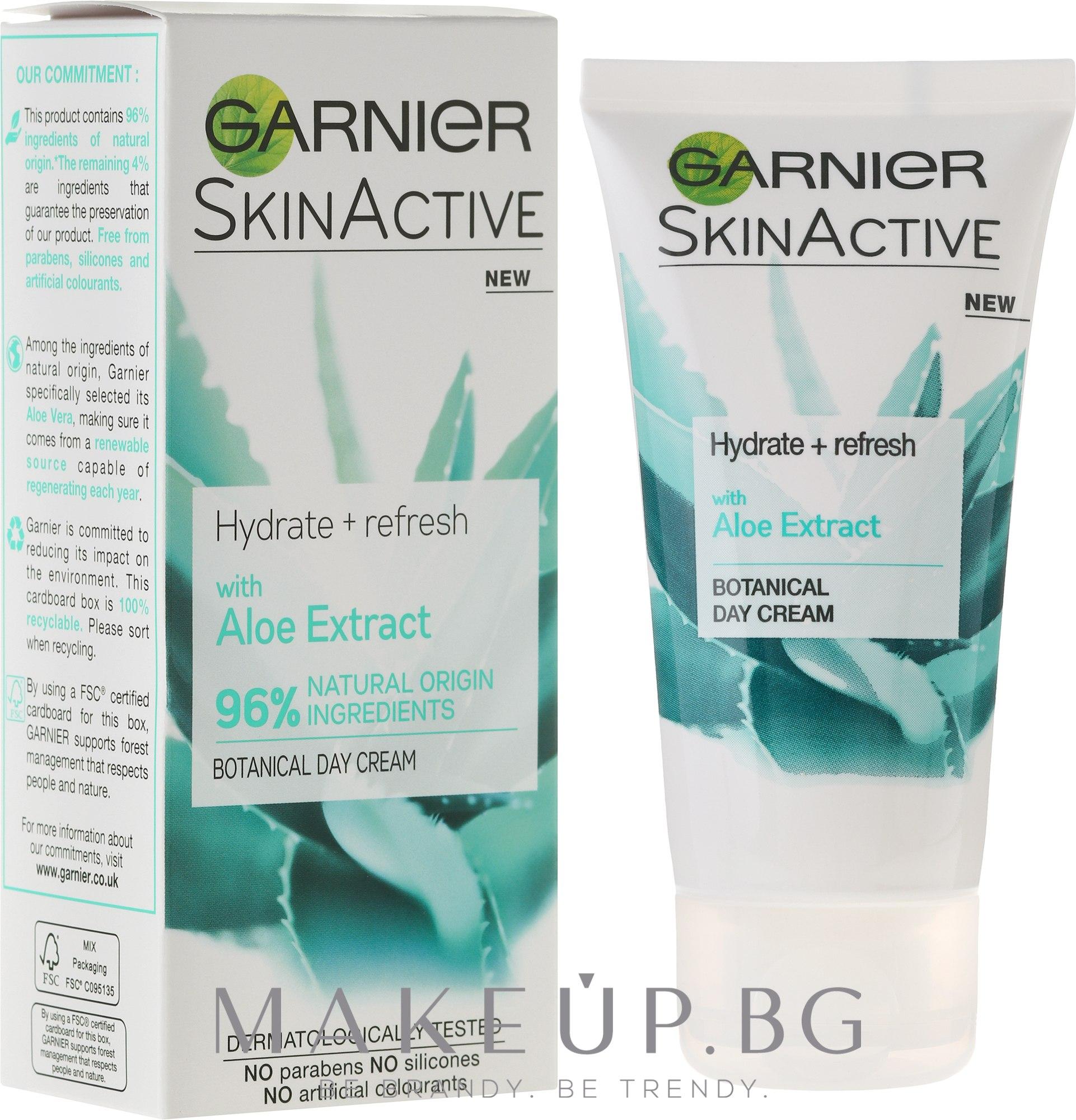 Дневен крем за лице с алое - Garnier SkinActiv Natural Aloe Extract Moisturiser Normal Skin — снимка 50 ml